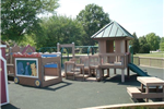 Animal Cart, Small Playground Structure and Picnic Table